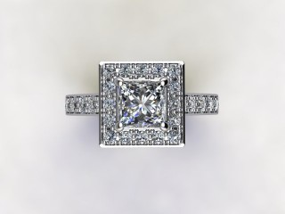 Certificated Princess-Cut Diamond in Platinum - 9