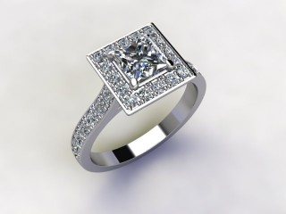 Certificated Princess-Cut Diamond in Platinum - 12