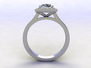 Certificated Princess-Cut Diamond in Platinum - 6