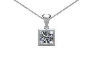 Certified Princess-Cut Diamond Pendant -02-01001