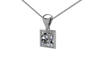 Certified Princess-Cut Diamond Pendant  - 3