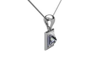 Certified Princess-Cut Diamond Pendant  - 6