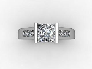 Certificated Princess-Cut Diamond in Platinum - 9