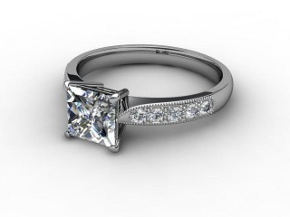 Certificated Princess-Cut Diamond in Platinum-02-0110-0709