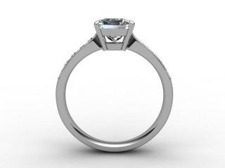 Certificated Princess-Cut Diamond in Platinum - 3