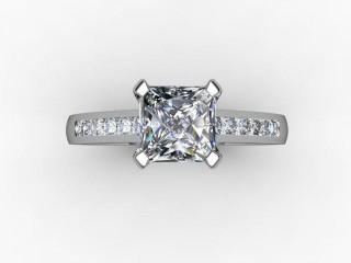 Certificated Princess-Cut Diamond in Platinum - 12