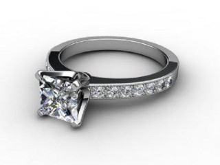 Certificated Princess-Cut Diamond in Platinum