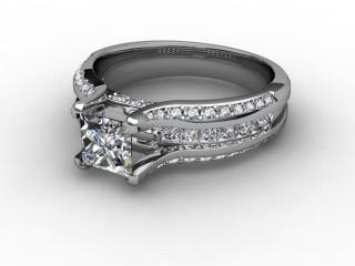 Certificated Princess-Cut Diamond in Platinum