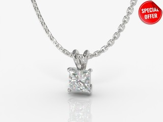 Certified Princess-Cut Diamond Pendant -02-01911