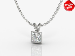 Certified Princess-Cut Diamond Pendant -02-01912