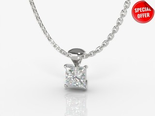 Certified Princess-Cut Diamond Pendant -02-01913