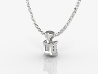 Certified Princess-Cut Diamond Pendant  - 3