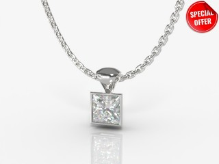 Certified Princess-Cut Diamond Pendant -02-01914