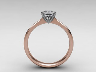 Certificated Princess-Cut Diamond Solitaire Engagement Ring in 18ct. Rose Gold - 3