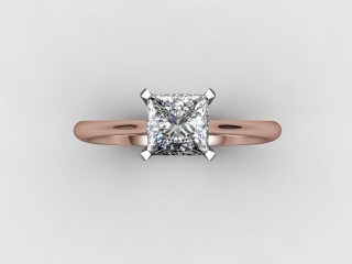 Certificated Princess-Cut Diamond Solitaire Engagement Ring in 18ct. Rose Gold - 12