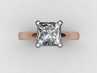 Certificated Princess-Cut Diamond Solitaire Engagement Ring in 18ct. Rose Gold - 9