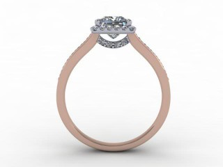 Certificated Princess-Cut Diamond in 18ct. Rose Gold - 3