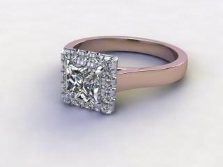 Certificated Princess-Cut Diamond in 18ct. Rose Gold