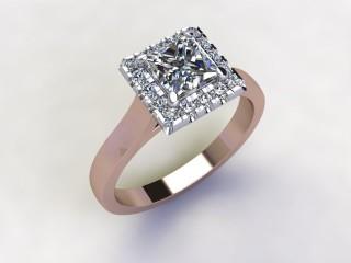 Certificated Princess-Cut Diamond in 18ct. Rose Gold - 12