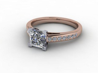Certificated Princess-Cut Diamond in 18ct. Rose Gold-02-0400-9252