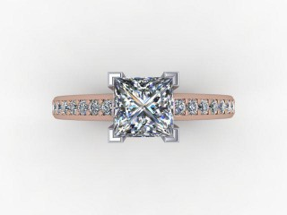 Certificated Princess-Cut Diamond in 18ct. Rose Gold - 9