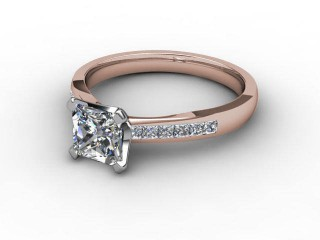 Certificated Princess-Cut Diamond in 18ct. Rose Gold-02-0412-6145