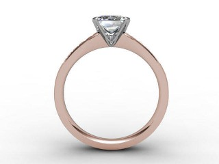 Certificated Princess-Cut Diamond in 18ct. Rose Gold - 3