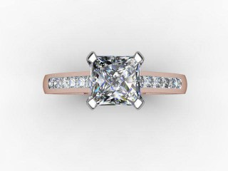 Certificated Princess-Cut Diamond in 18ct. Rose Gold - 9