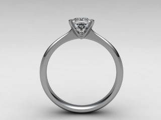 Certificated Princess-Cut Diamond Solitaire Engagement Ring in 18ct. White Gold - 3