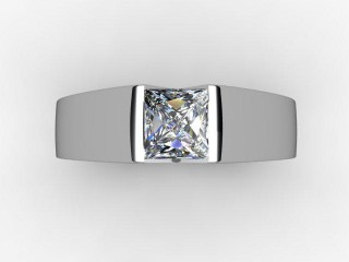 Certificated Princess-Cut Diamond Solitaire Engagement Ring in 18ct. White Gold - 9
