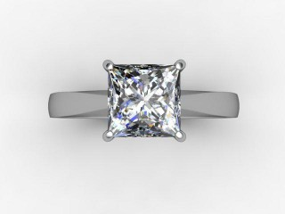 Certificated Princess-Cut Diamond Solitaire Engagement Ring in 18ct. White Gold - 12