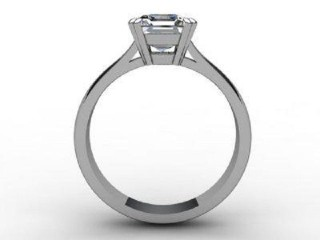 Certificated Princess-Cut Diamond Solitaire Engagement Ring in 18ct. White Gold - 6