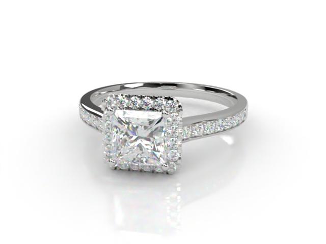 Certificated Princess-Cut Diamond in 18ct. White Gold