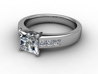 Certificated Princess-Cut Diamond in 18ct. White Gold
