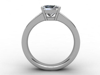 Certificated Princess-Cut Diamond in 18ct. White Gold - 3