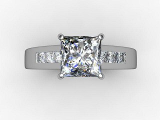 Certificated Princess-Cut Diamond in 18ct. White Gold - 9