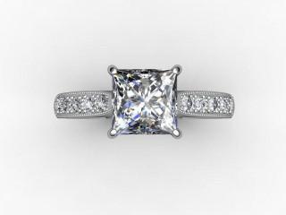 Certificated Princess-Cut Diamond in 18ct. White Gold - 9