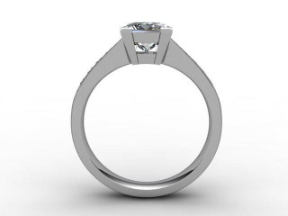 Certificated Princess-Cut Diamond in 18ct. White Gold - 6