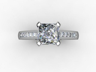 Certificated Princess-Cut Diamond in 18ct. White Gold - 12