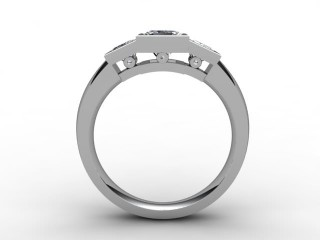 Trilogy 18ct. White Gold Princess Diamond - 6