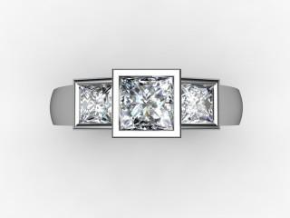 Trilogy 18ct. White Gold Princess Diamond - 12