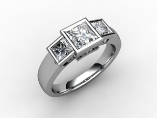 Trilogy 18ct. White Gold Princess Diamond - 15