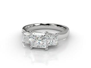 Trilogy 18ct. White Gold Princess Diamond-02-0533-2307