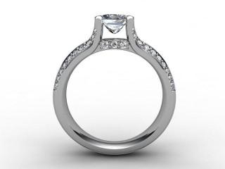 Certificated Princess-Cut Diamond in 18ct. White Gold - 3