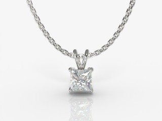 Certified Princess-Cut Diamond Pendant-02-05911