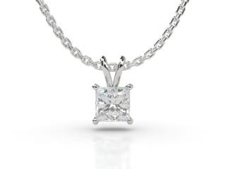 Certified Princess-Cut Diamond Pendant