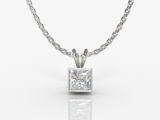 Certified Princess-Cut Diamond Pendant-02-05912