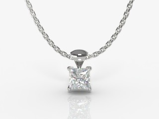 Certified Princess-Cut Diamond Pendant-02-05913