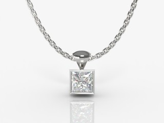 Certified Princess-Cut Diamond Pendant