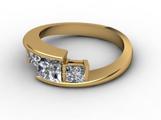 Trilogy 18ct. Yellow Gold Princess Diamond-02-1833-2301